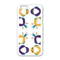 Pattern Circular Birds Apple Iphone 6/6s White Enamel Case by BangZart