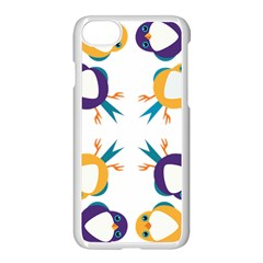 Pattern Circular Birds Apple Iphone 7 Seamless Case (white) by BangZart