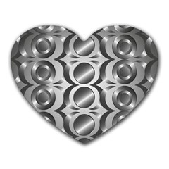 Metal Circle Background Ring Heart Mousepads by BangZart
