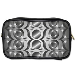 Metal Circle Background Ring Toiletries Bags by BangZart