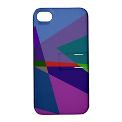Abstract #415 Tipping Point Apple Iphone 4/4s Hardshell Case With Stand by RockettGraphics