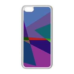 Abstract #415 Tipping Point Apple Iphone 5c Seamless Case (white) by RockettGraphics