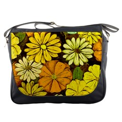 Abstract #417 Messenger Bags by RockettGraphics