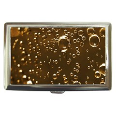 Festive Bubbles Sparkling Wine Champagne Golden Water Drops Cigarette Money Cases by yoursparklingshop