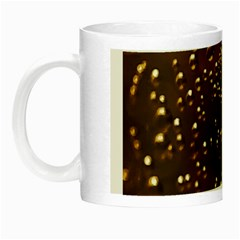 Festive Bubbles Sparkling Wine Champagne Golden Water Drops Night Luminous Mugs by yoursparklingshop