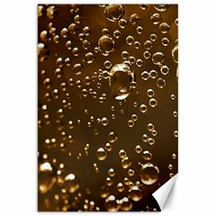 Festive Bubbles Sparkling Wine Champagne Golden Water Drops Canvas 20  X 30   by yoursparklingshop