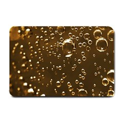 Festive Bubbles Sparkling Wine Champagne Golden Water Drops Small Doormat  by yoursparklingshop