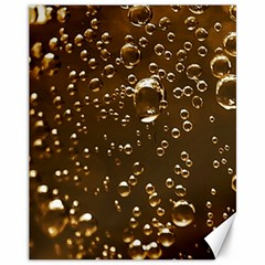 Festive Bubbles Sparkling Wine Champagne Golden Water Drops Canvas 11  X 14   by yoursparklingshop