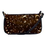 Festive Bubbles Sparkling Wine Champagne Golden Water Drops Shoulder Clutch Bags Front