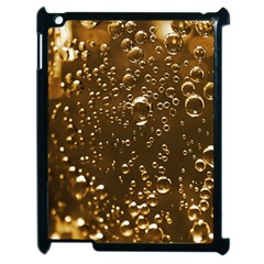 Festive Bubbles Sparkling Wine Champagne Golden Water Drops Apple Ipad 2 Case (black) by yoursparklingshop