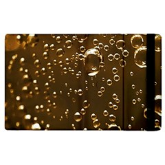Festive Bubbles Sparkling Wine Champagne Golden Water Drops Apple Ipad 2 Flip Case by yoursparklingshop