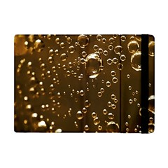 Festive Bubbles Sparkling Wine Champagne Golden Water Drops Apple Ipad Mini Flip Case by yoursparklingshop
