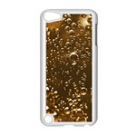 Festive Bubbles Sparkling Wine Champagne Golden Water Drops Apple iPod Touch 5 Case (White) Front