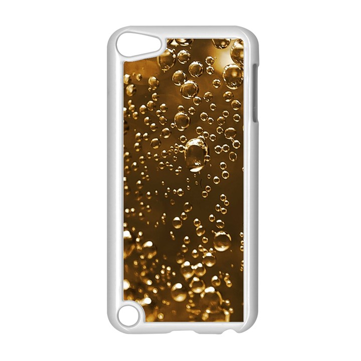Festive Bubbles Sparkling Wine Champagne Golden Water Drops Apple iPod Touch 5 Case (White)