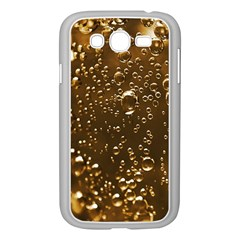 Festive Bubbles Sparkling Wine Champagne Golden Water Drops Samsung Galaxy Grand Duos I9082 Case (white) by yoursparklingshop