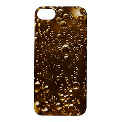 Festive Bubbles Sparkling Wine Champagne Golden Water Drops Apple Iphone 5s/ Se Hardshell Case by yoursparklingshop