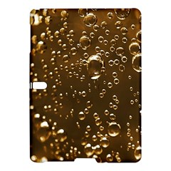 Festive Bubbles Sparkling Wine Champagne Golden Water Drops Samsung Galaxy Tab S (10 5 ) Hardshell Case  by yoursparklingshop