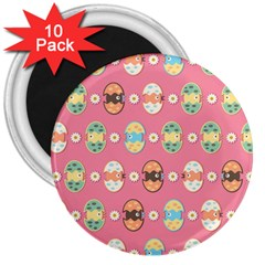 Cute Eggs Pattern 3  Magnets (10 Pack)  by linceazul
