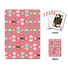 Cute Eggs Pattern Playing Card by linceazul