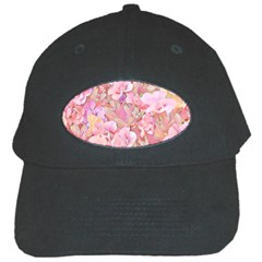 Lovely Floral 36a Black Cap by MoreColorsinLife