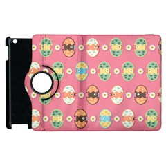 Cute Eggs Pattern Apple Ipad 3/4 Flip 360 Case by linceazul