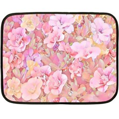 Lovely Floral 36a Double Sided Fleece Blanket (mini)  by MoreColorsinLife