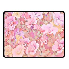 Lovely Floral 36a Fleece Blanket (small) by MoreColorsinLife