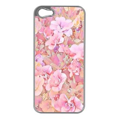 Lovely Floral 36a Apple Iphone 5 Case (silver) by MoreColorsinLife