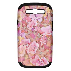 Lovely Floral 36a Samsung Galaxy S Iii Hardshell Case (pc+silicone) by MoreColorsinLife