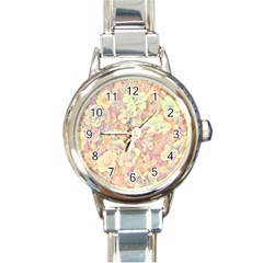 Lovely Floral 36b Round Italian Charm Watch by MoreColorsinLife