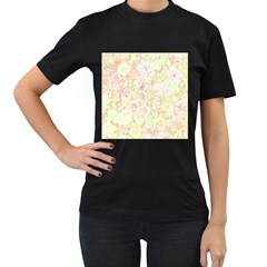 Lovely Floral 36c Women s T Shirt (black) by MoreColorsinLife