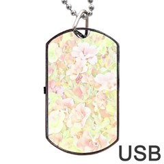 Lovely Floral 36c Dog Tag Usb Flash (one Side) by MoreColorsinLife