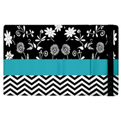 Flowers Turquoise Pattern Floral Apple Ipad 2 Flip Case