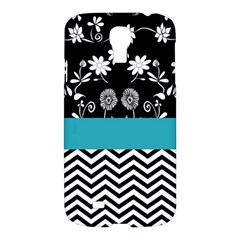 Flowers Turquoise Pattern Floral Samsung Galaxy S4 I9500/i9505 Hardshell Case by BangZart