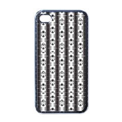 Pattern Background Texture Black Apple Iphone 4 Case (black) by BangZart