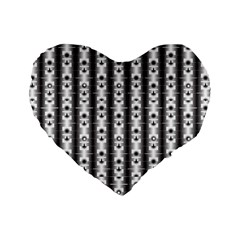 Pattern Background Texture Black Standard 16  Premium Heart Shape Cushions by BangZart