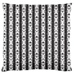 Pattern Background Texture Black Large Flano Cushion Case (one Side) by BangZart