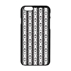 Pattern Background Texture Black Apple Iphone 6/6s Black Enamel Case by BangZart