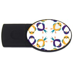 Pattern Circular Birds Usb Flash Drive Oval (2 Gb) by BangZart