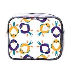 Pattern Circular Birds Mini Toiletries Bags by BangZart