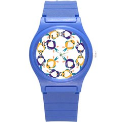 Pattern Circular Birds Round Plastic Sport Watch (s) by BangZart