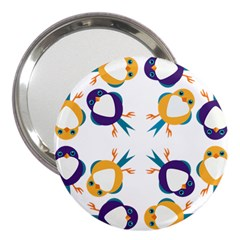 Pattern Circular Birds 3  Handbag Mirrors by BangZart