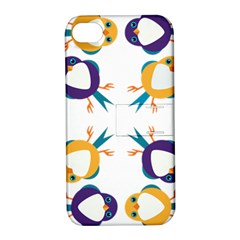 Pattern Circular Birds Apple Iphone 4/4s Hardshell Case With Stand by BangZart