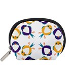 Pattern Circular Birds Accessory Pouches (Small)  Front