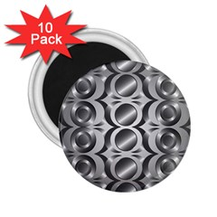 Metal Circle Background Ring 2 25  Magnets (10 Pack)  by BangZart