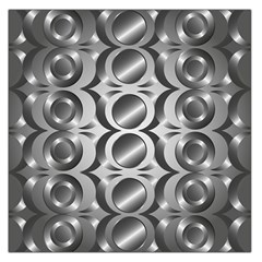 Metal Circle Background Ring Large Satin Scarf (square)