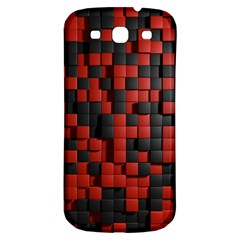 Black Red Tiles Checkerboard Samsung Galaxy S3 S Iii Classic Hardshell Back Case by BangZart