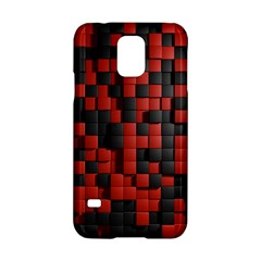 Black Red Tiles Checkerboard Samsung Galaxy S5 Hardshell Case  by BangZart