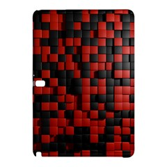 Black Red Tiles Checkerboard Samsung Galaxy Tab Pro 12 2 Hardshell Case by BangZart