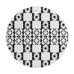 Pattern Background Texture Black Ornament (round) by BangZart